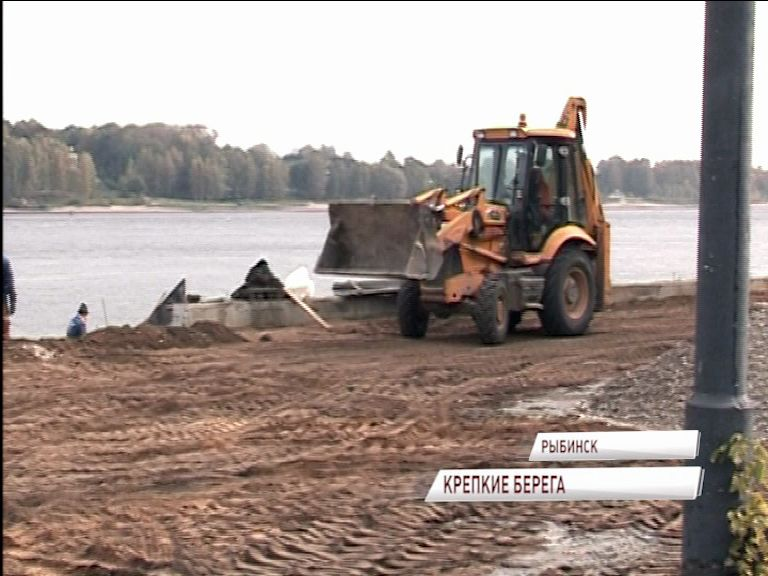 В Рыбинске реализуется проект по укреплению правого берега реки Волги