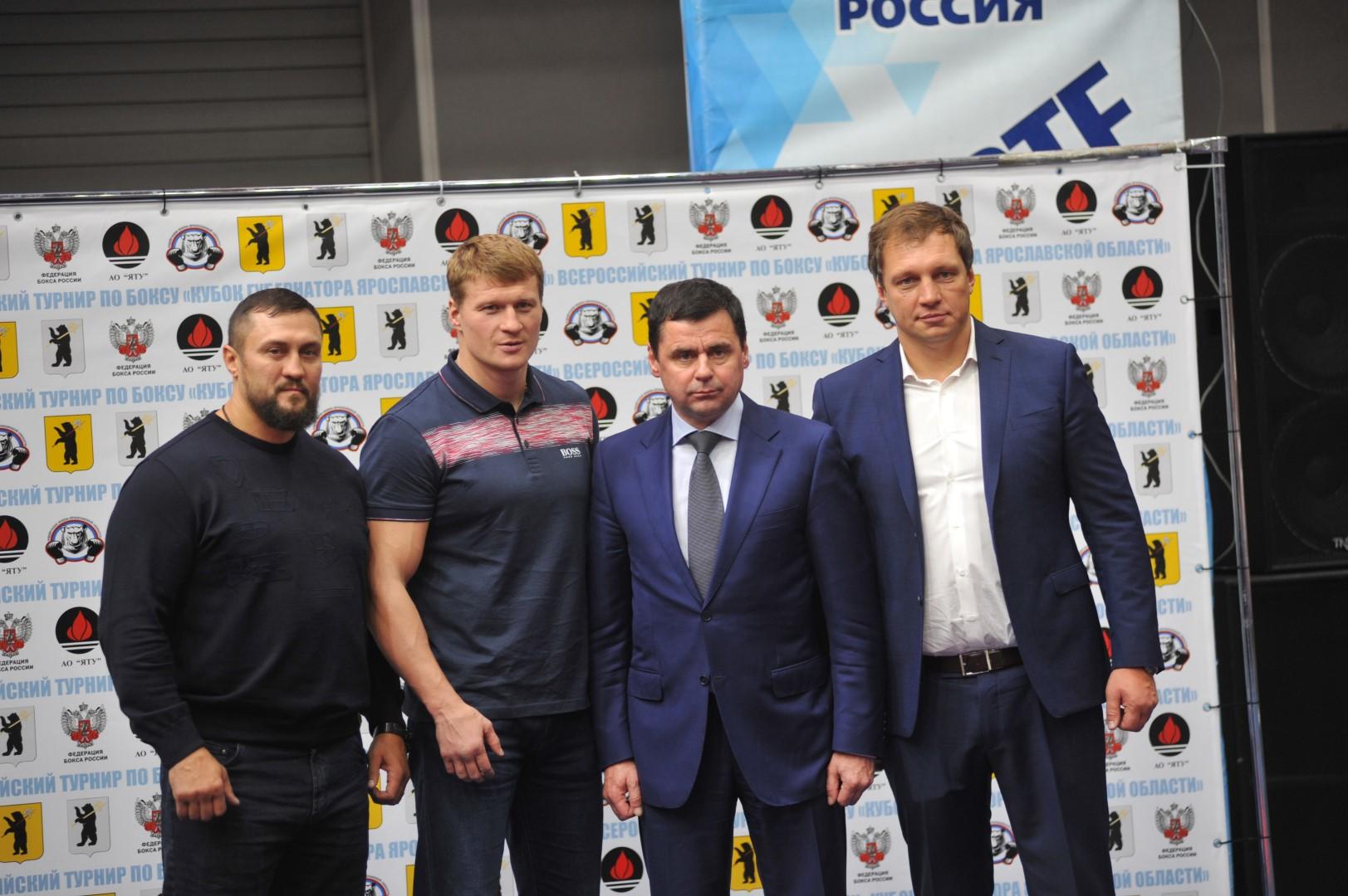 Александр Поветкин принял участие в открытии Кубка губернатора по боксу