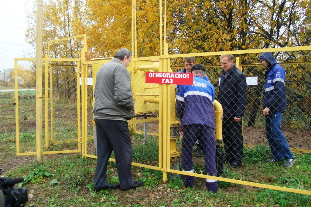 Началось подключение к газопроводу домов в селе Веськово Переславского района