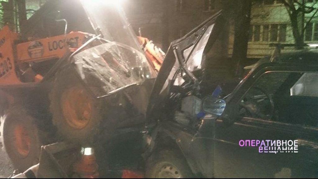 Водитель, протаранивший своей машиной трактор, был пьян