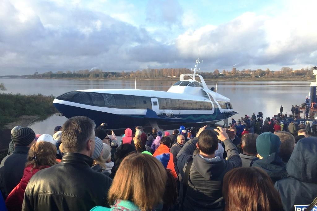 Спущена на воду первая из 20 рыбинских «Комет», которые будут ходить в Черном море