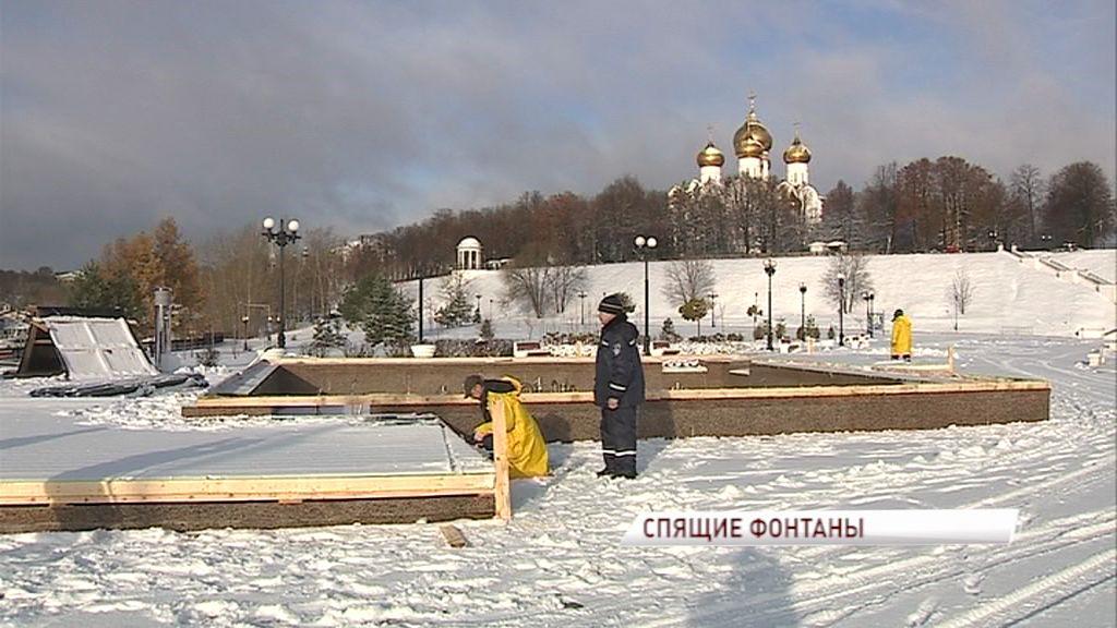 Консервация фонтанов на зиму выходит на финишную прямую