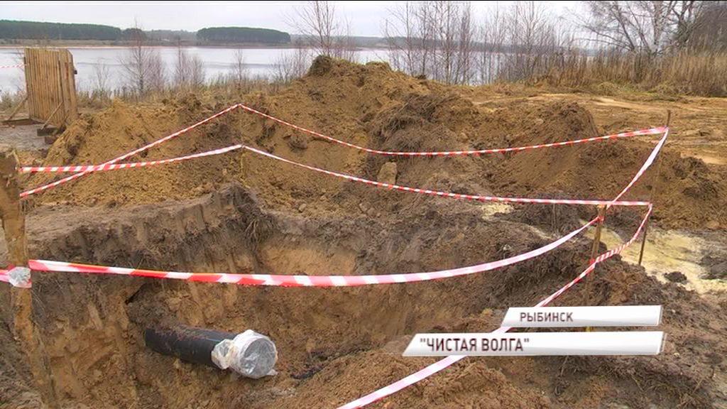 В Рыбинске закончена прокладка подводной трубы через Волгу