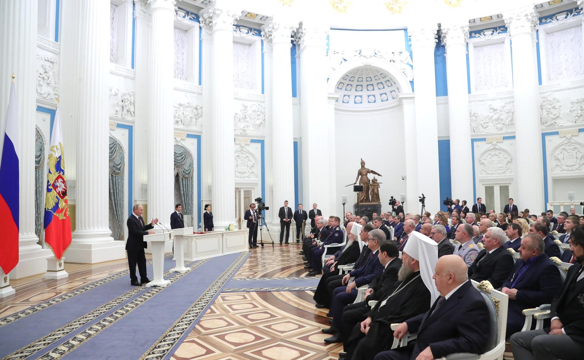 Космонавт из Рыбинска получил «Золотую звезду» из рук президента