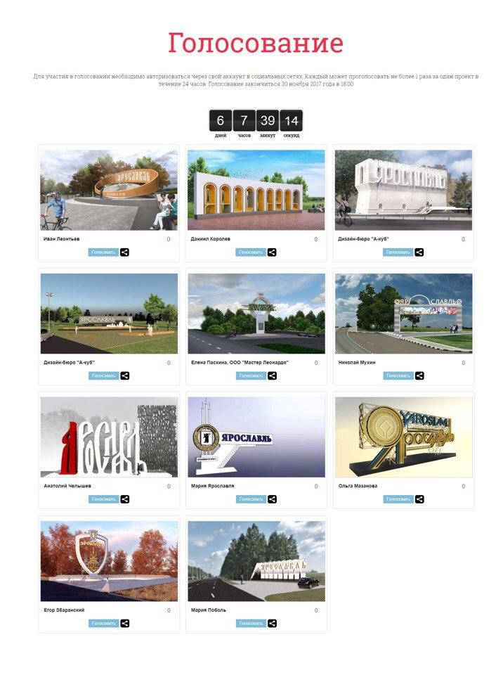 Конкурсантов проекта въездной стелы в Ярославль заподозрили в накрутке голосов