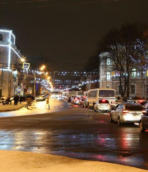 Перед Новым годом ярославские деревья