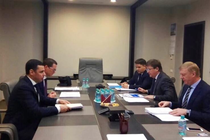 Дмитрий Миронов обсудил с руководителем «Роснано» Анатолием Чубайсом перспективы реализации ряда проектов
