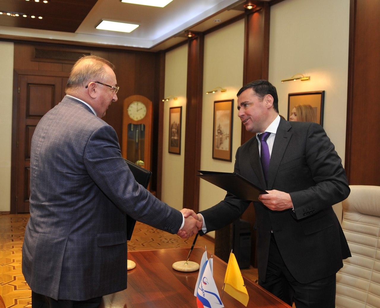 Губернатор Дмитрий Миронов подписал соглашение о сотрудничестве с президентом «Транснефть»