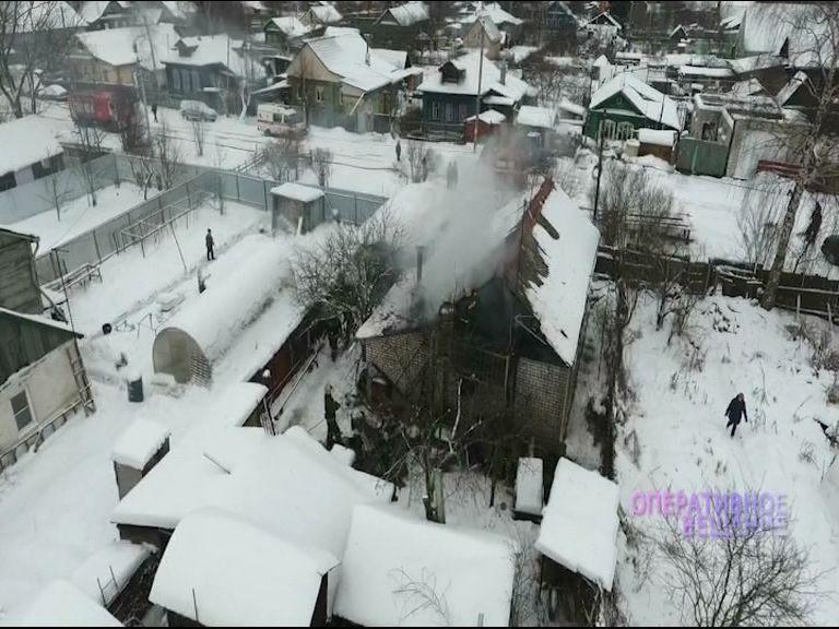 Пожар в Красноперекопском районе: хозяин дома получил большие ожоги