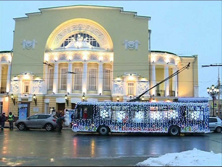 Перед Новым годом в Ярославле вновь запустят «волшебный» троллейбус