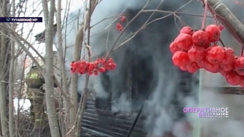 В деревне Першино сгорел частный дом