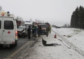 Под Переславлем столкнулись сразу четыре автомобиля: один человек погиб