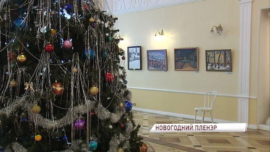 Волковский театр украсили 30 картин, написанных на ярославских пленэрах
