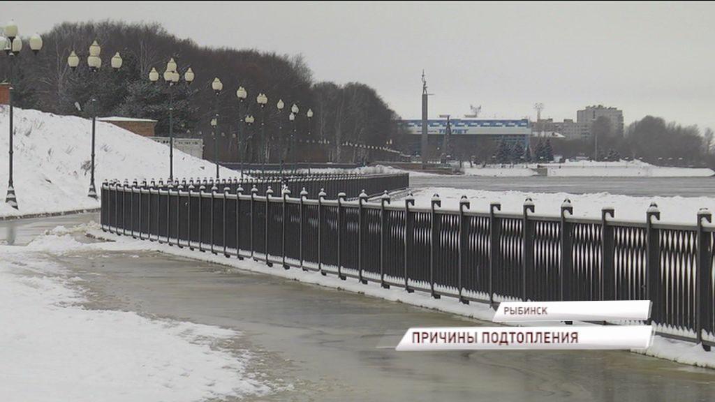 Стали известны причины, почему в Рыбинске Волжская набережная ушла под воду