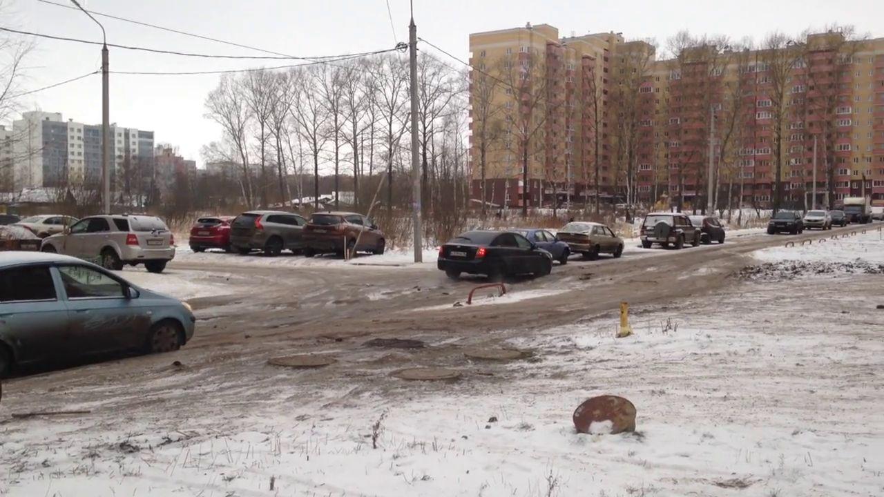 ВИДЕО: Ярославцы пожаловались на ужасную дорогу в микрорайоне «Яблоневый посад»