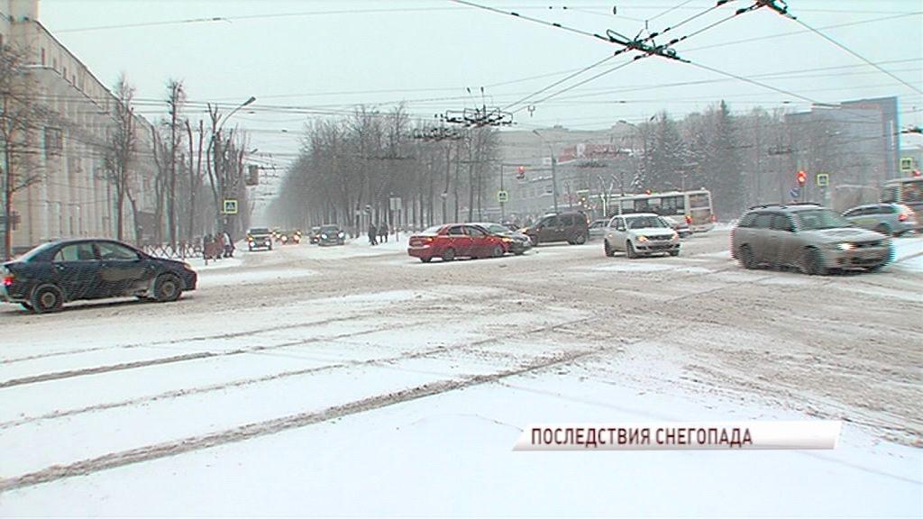 На Ярославль обрушилась сильная метель: в городе резко возросло количество ДТП
