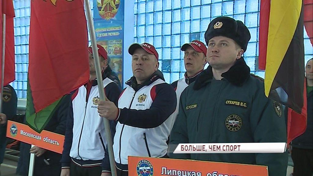 На соревнования по пожарно-прикладному спорту в Ярославль приехали лучшие спасатели ЦФО