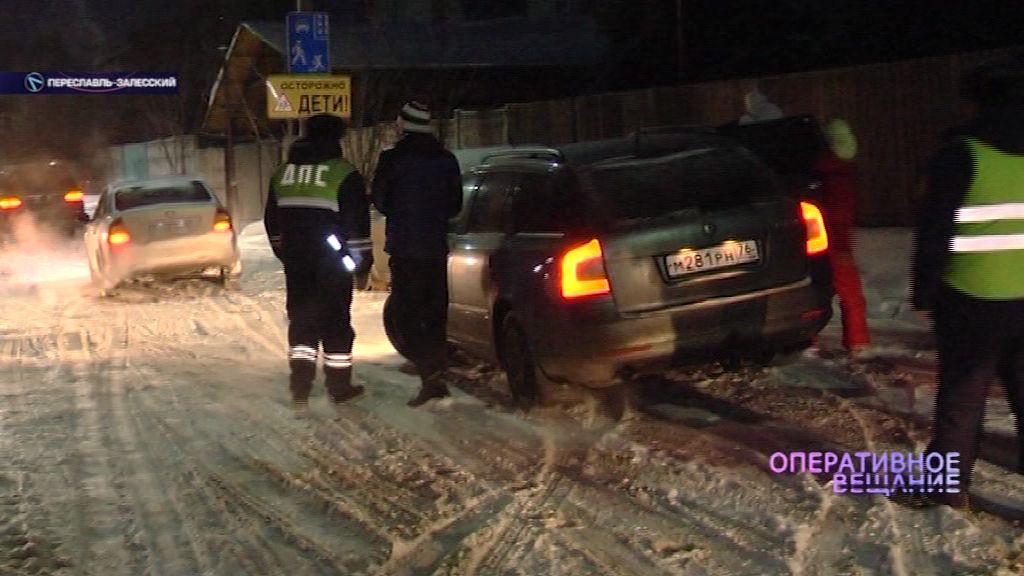 В Переславле ловили водителей, которые перевозят детей без детских кресел