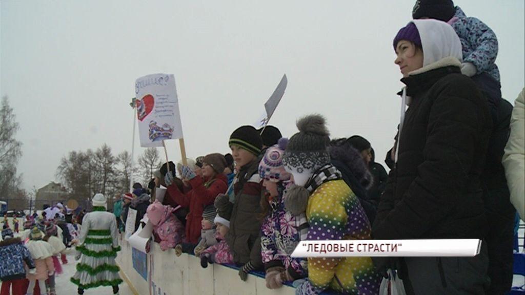 Жители Некрасовского на хоккейном турнире проголосовали в проекте «Решаем вместе!»