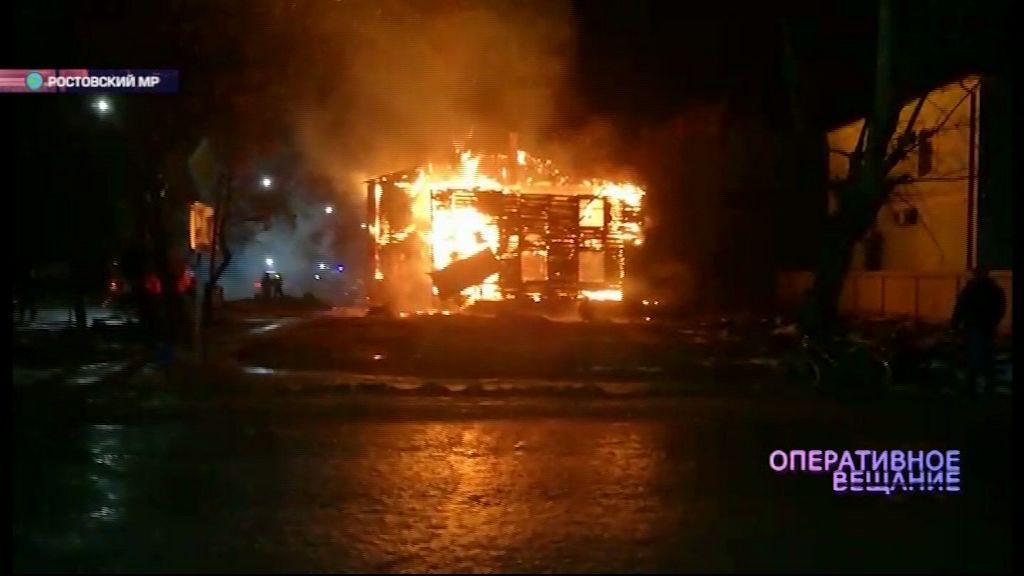 Сильный пожар унес жизнь пенсионерки в Ростовском районе