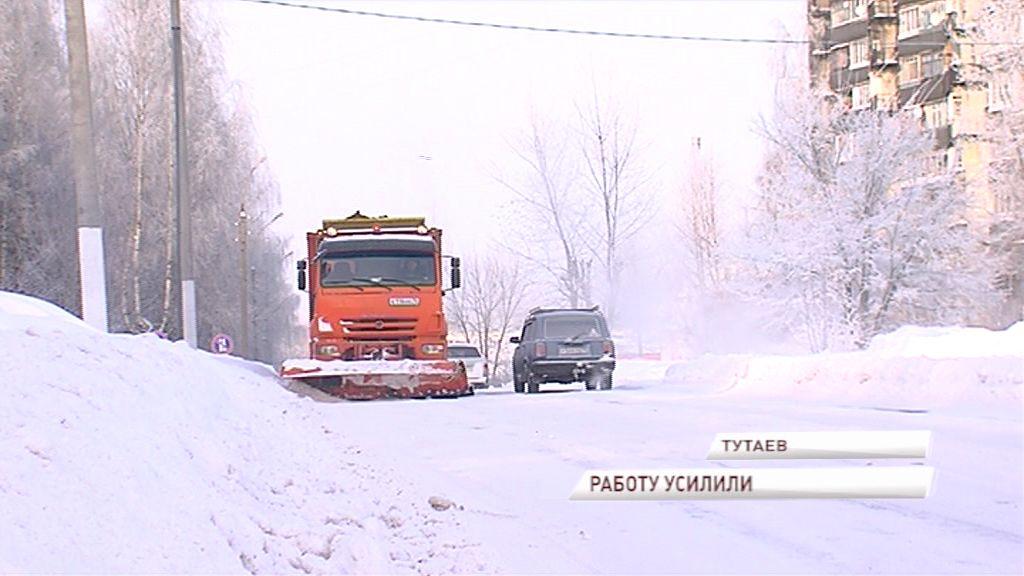 Тутаев постепенно приходит в себя после мощнейшего снегопада