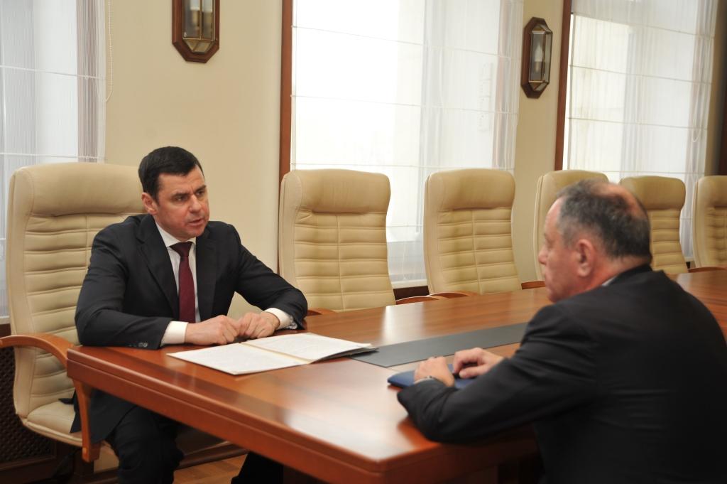 Дмитрий Миронов обсудил с Александром Браверманом вопросы создания в Ярославской области Региональной лизинговой компании