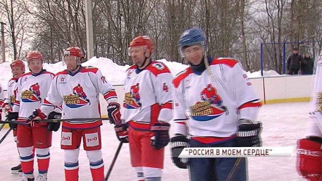 В Кузнечихе легенды отечественного хоккея сыграли товарищеский матч с любительской командой