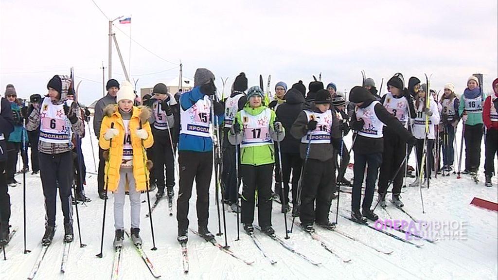 В Любимском районе прошла лыжная эстафета среди правоохранительных отрядов
