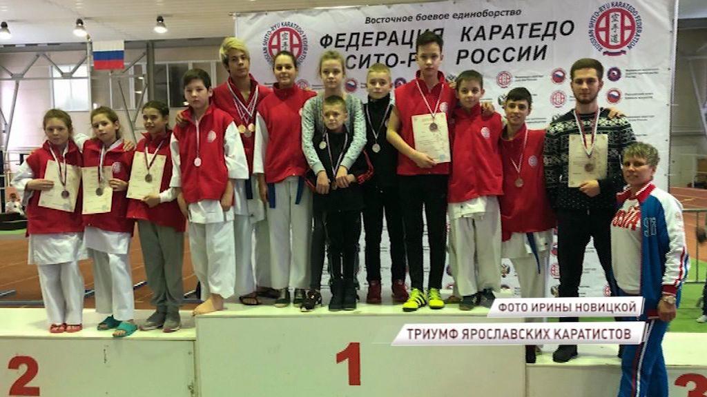 Ярославские каратисты привезли 14 медалей из Липецка