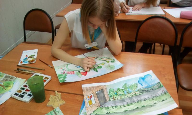 Ученики ярославской школы №89 нарисовали Ярославль, каким бы они хотели его видеть