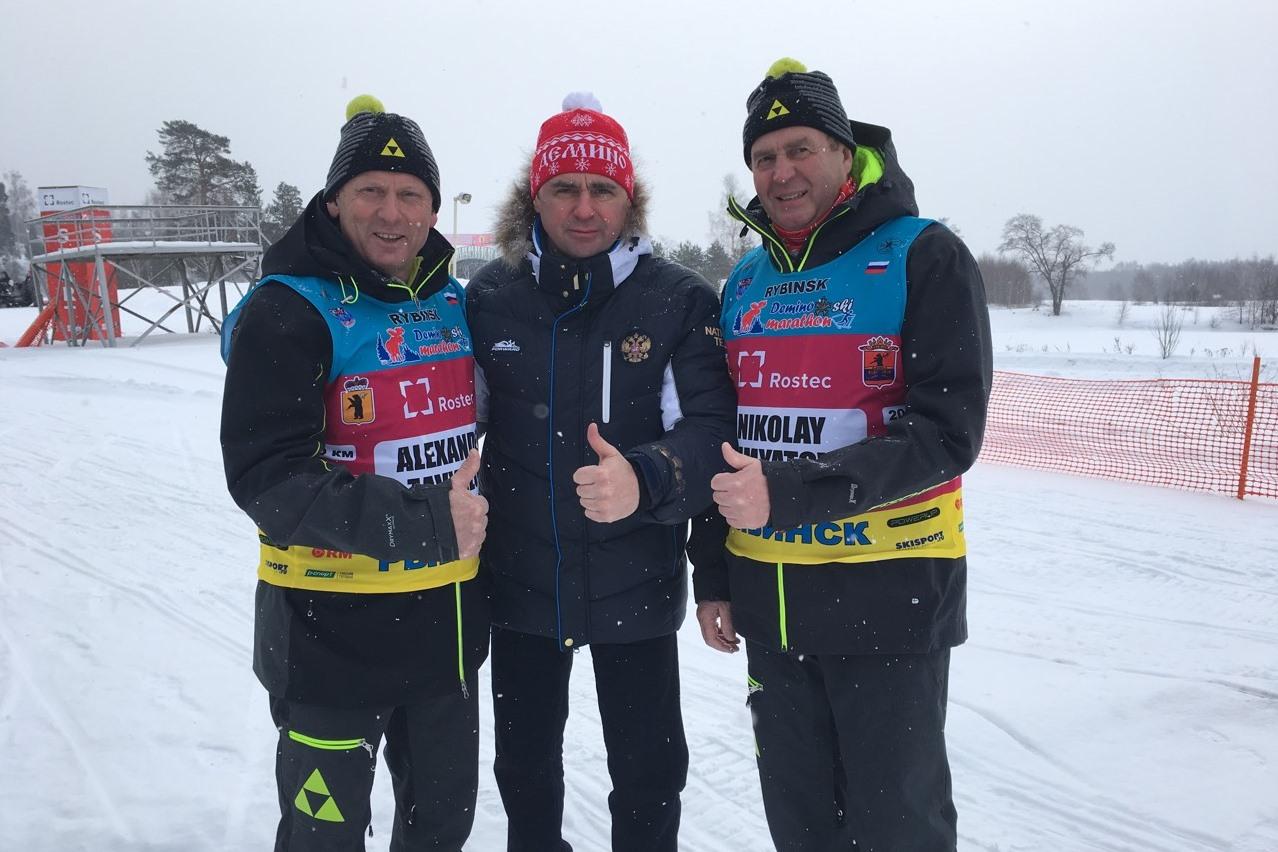 Дмитрий Миронов открыл XI Деминский лыжный марафон