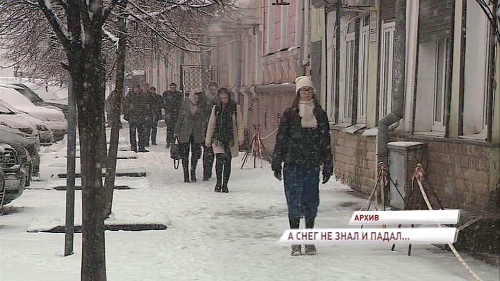 Календарная весна в области началась с обильного снегопада