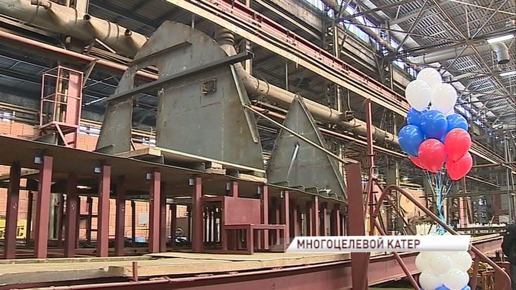 На Ярославском судостроительном заводе состоялась закладка судна для спасательных работ