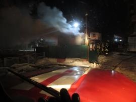В Ярославле сгорел строительный вагончик