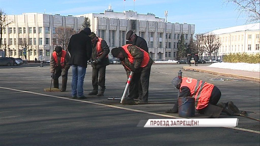 Начальник управления ГИБДД по Ярославской области поддержал установку сигнальных столбиков на Советской площади