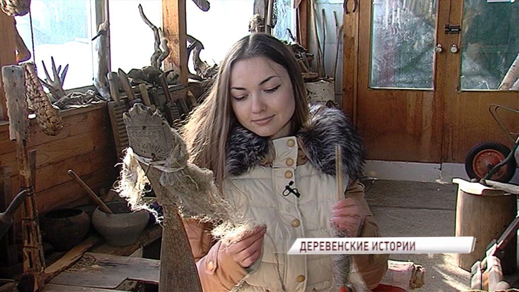 Коллекцию предметов деревенского быта собирает ярославский художник-гравер