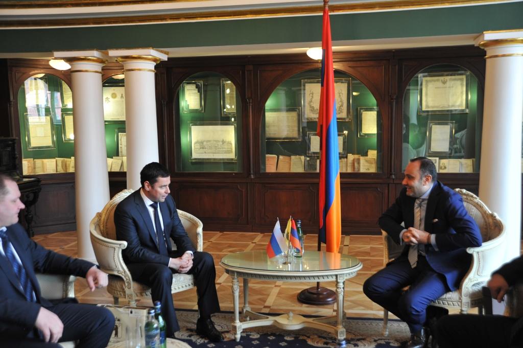 Дмитрий Миронов провел презентацию Ярославской области в посольстве Армении: в каких сферах будет налажено сотрудничество