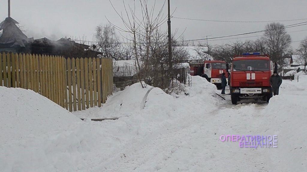 В Рыбинском районе сгорел частный дом