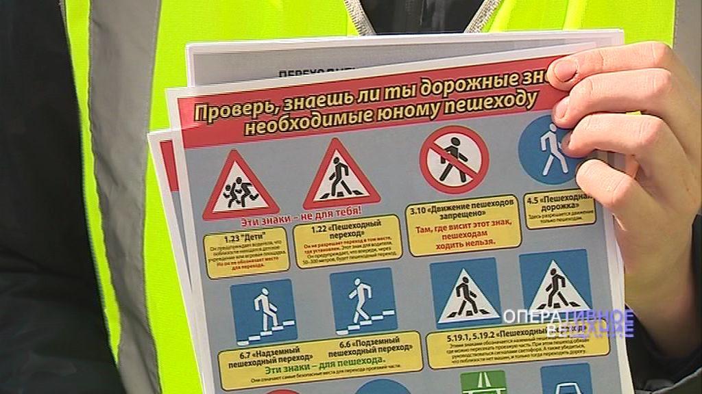 Юные инспекторы дорожного движения напомнили ростовчанам о соблюдении ПДД
