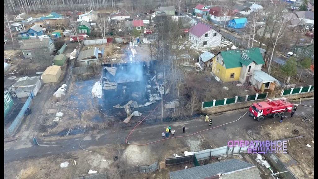 Дети подожгли деревянный дом в поселке Куйбышева: последствия