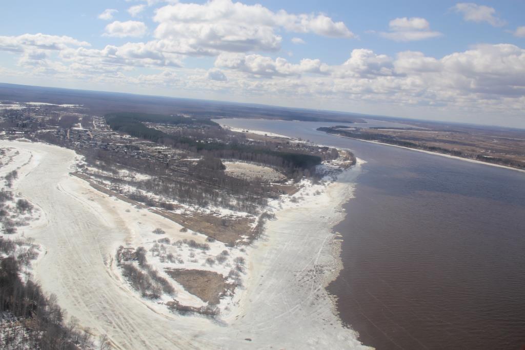 Паводковую ситуацию в Ярославской области оценили с высоты птичьего полета