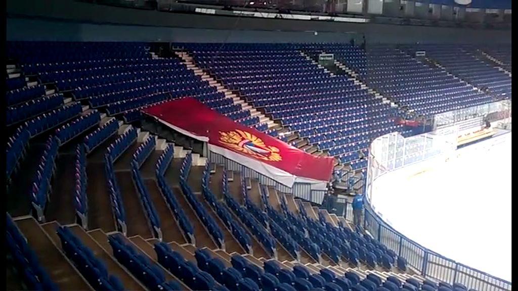 Россия - Швеция: как проходят последние приготовления перед хоккейным матчем на «Арене-2000»