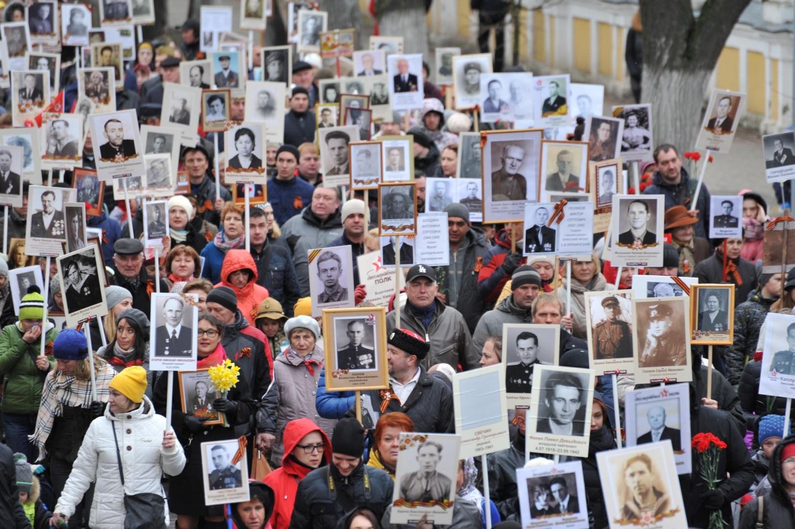 На акцию «Бессмертный полк» в Ярославле выйдут 12 тысяч человек