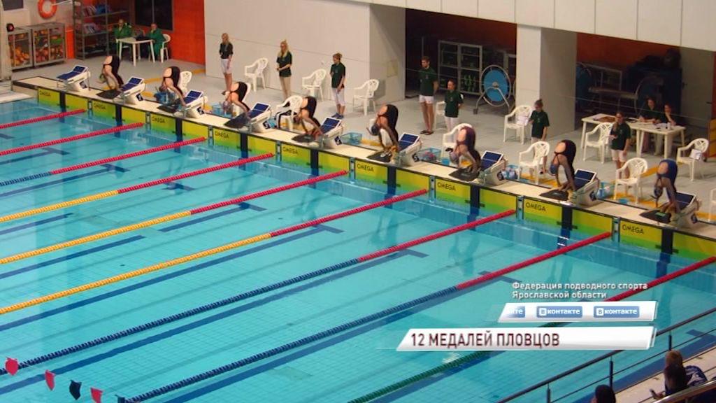 Ярославские пловцы завоевали 12 медалей на чемпионате России по подводному плаванию