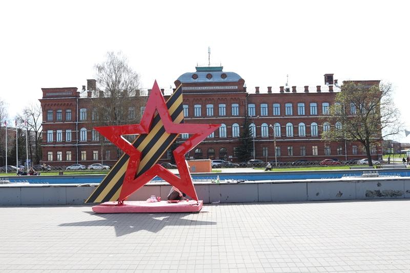 В Рыбинске установят четырехметровую звезду с георгиевской лентой