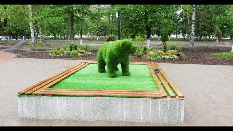 ФОТО: Ярославцы в городе увидели зеленого медведя