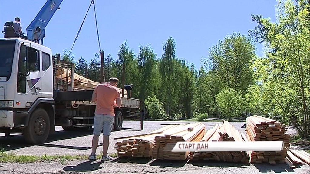 В новом парке на Подзеленье начались работы по благоустройству
