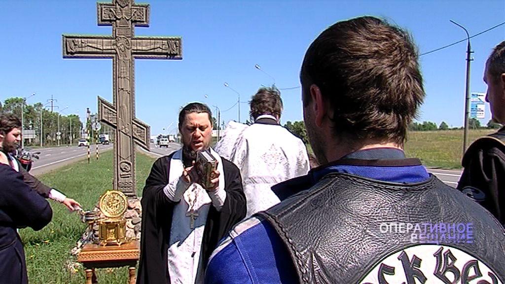 Ярославские байкеры посетили поклонные кресты города в честь Святого Николая