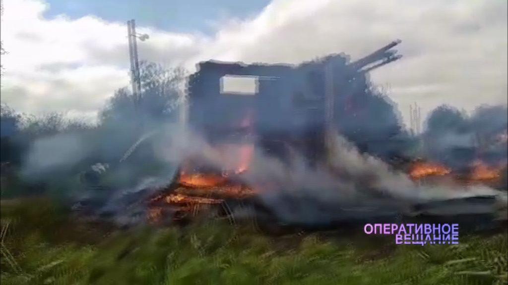 В Даниловском районе пожар уничтожил сразу пять домов