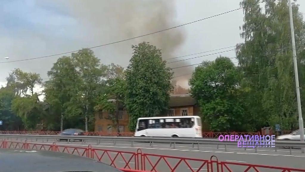 На 1-й Приволжской улице опять горели расселенные постройки